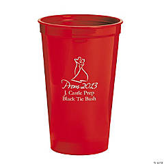 Personalized Red 2013 Prom Night Tumblers