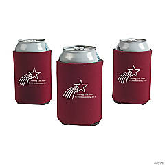 Personalized Burgundy Shooting Star Can Covers
