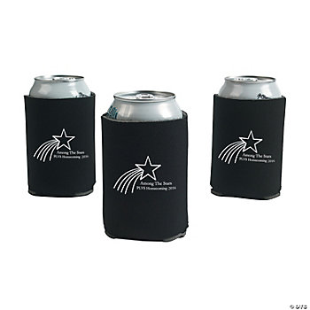 Personalized Black Shooting Star Can Covers