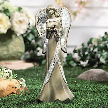 Garden Angel with Mosaic Glass Wings