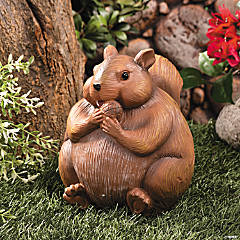 Round Squirrel Statue