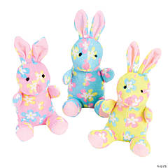 Plush Flower Print Bunnies