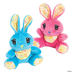 Plush Bunnies With Scarf