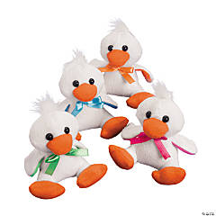 Plush Bright Easter Ducks