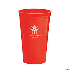 Personalized Red Asian Tumblers