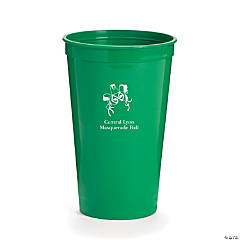 Personalized Green Masquerade Tumblers