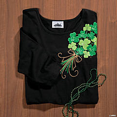 Shamrock Bouquet With Studs Medium T-Shirt
