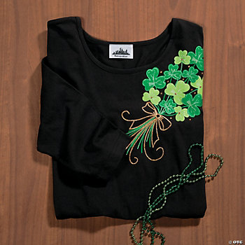 Shamrock Bouquet With Studs Large T-Shirt