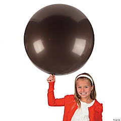 Chocolate Brown Round Latex Balloons - 36