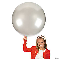 Jumbo Latex Balloon - Silver - 36