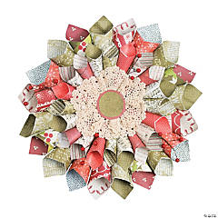 Christmas Paper Cone Wreath Idea