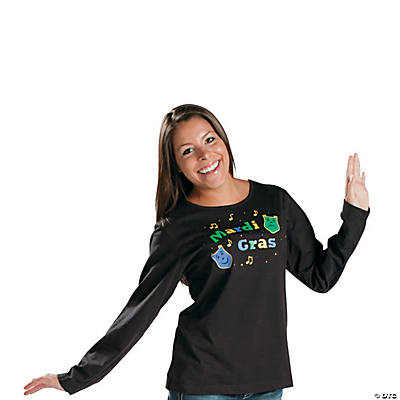"""Mardi Gras"" With Studs Small Long-Sleeved T-Shirt"