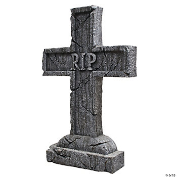 """Rest In Peace"" Cross Tombstone"