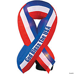 Airblown Light-Up God Bless America Ribbon