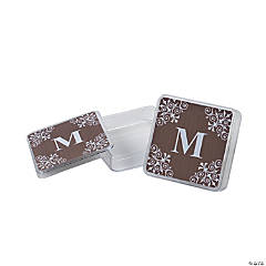 Personalized Chocolate Monogram Square Containers