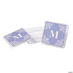 Personalized Lilac Monogram Square Containers