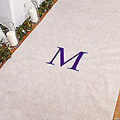 Personalized Purple Monogram Aisle Runner