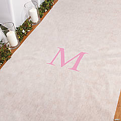 Personalized Light Pink Monogram Aisle Runner