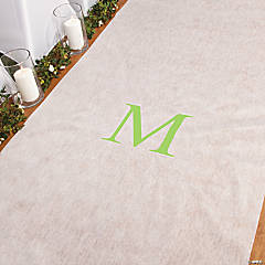 Personalized Lime Green Monogram Aisle Runner