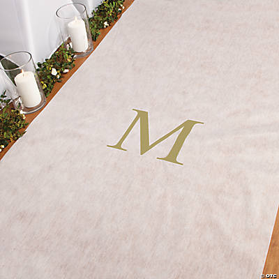 Personalized Gold Monogram Aisle Runner
