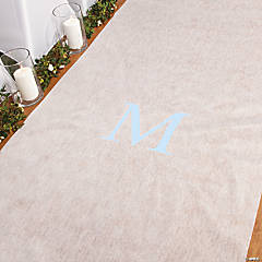 Personalized Light Blue Monogram Aisle Runner