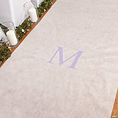 Personalized Lilac Monogram Aisle Runner