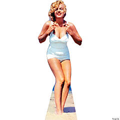 Marilyn Monroe White Swimsuit Stand-Up