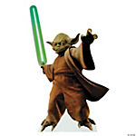Yoda With Lightsaber Stand-Up