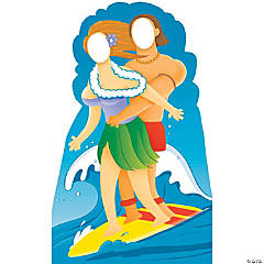 Surfer Couple Stand-In Stand-Up