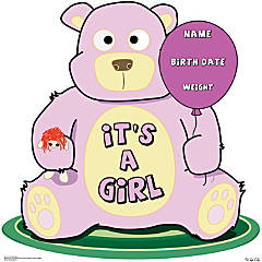 It's A Girl Teddy Bear Stand-Up