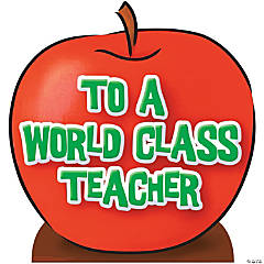 Teacher's Appreciation Apple Stand-Up
