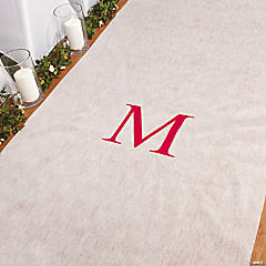 Personalized Red Monogram Aisle Runner