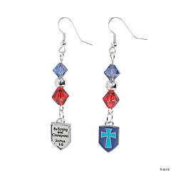 Religious Shield Earrings Craft Kit