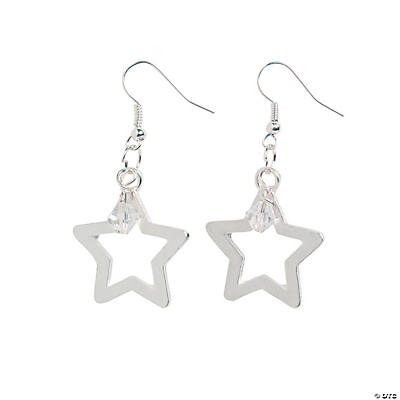 Silver Star Earrings Craft Kit