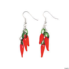 Red Chili Pepper Lampwork Earrings Craft Kit