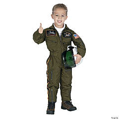 Air Force Pilot With Helmet Boy's Costume