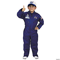 Flight Suit With Cap NASA Astronaut Costume for Kids
