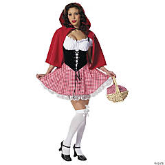 Red Hot Riding Hood Gingham Adult Women's Costume