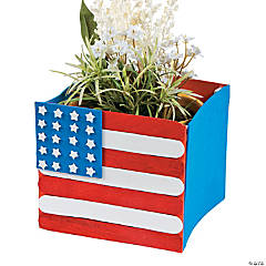 Craft Stick Flag Planter Craft Kit