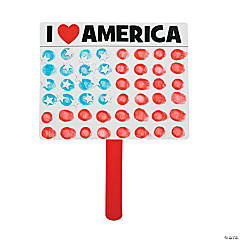 Thumbprint USA Flag Craft Kit