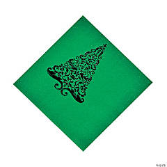 Green Glitz Luncheon Napkins