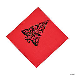 Red Glitz Luncheon Napkins