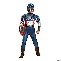 Captain America Muscle Costume for Boys