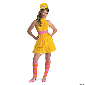Big Bird Large Girl's Costume
