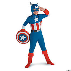 Classic Captain America Costume for Boys