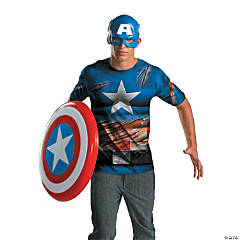 Alternative Captain America Costume With Battle Scars for Men