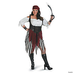 Deck Hand Darling Pirate Plus Size Adult Women's Costume