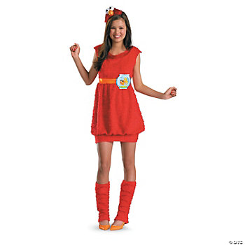 Elmo Tween Girl's Costume
