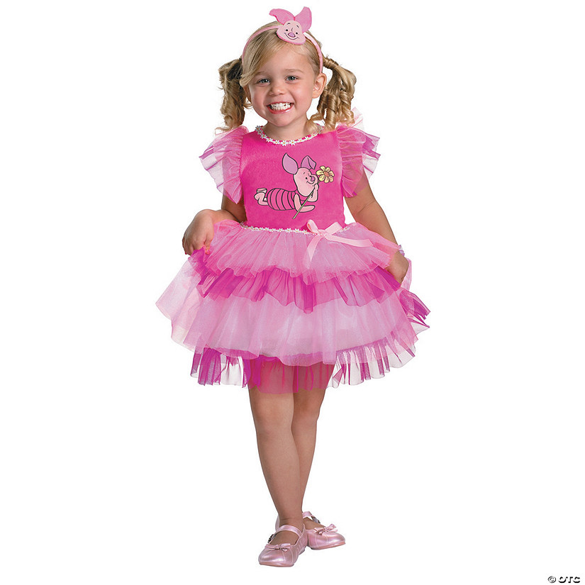 girl s frilly winnie the pooh piglet costume