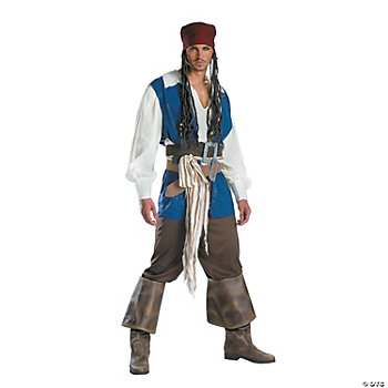Jack Sparrow Quality Adult Men's Costume